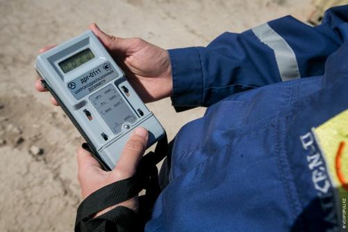 Проверка радиоактивности песка
